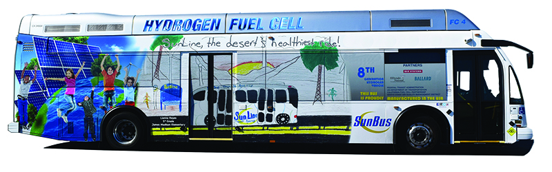 FC4 Hydrogen Fuel Cell Bus with Art Contest Wrap